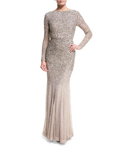 sequin ls gown