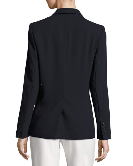 Virgin Wool Crepe Boyfriend Blazer