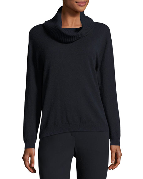 Escada Wool-Cashmere Sweater with Removable Cowl-Neck