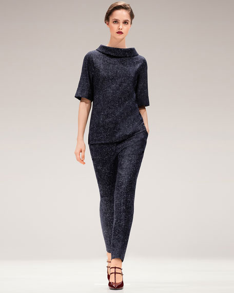 Tamesne Snowflake Tweed Ankle Pants