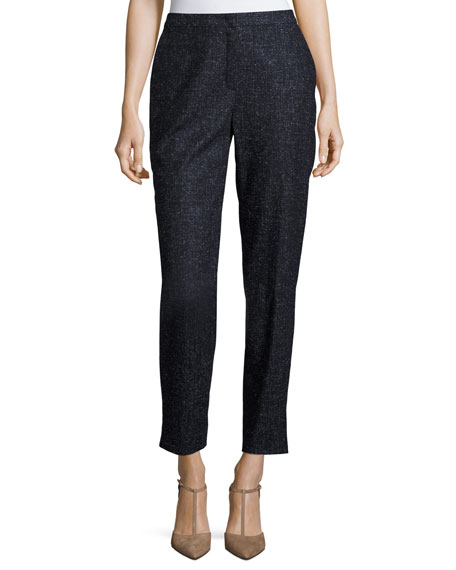 Escada Tamesne Snowflake Tweed Ankle Pants