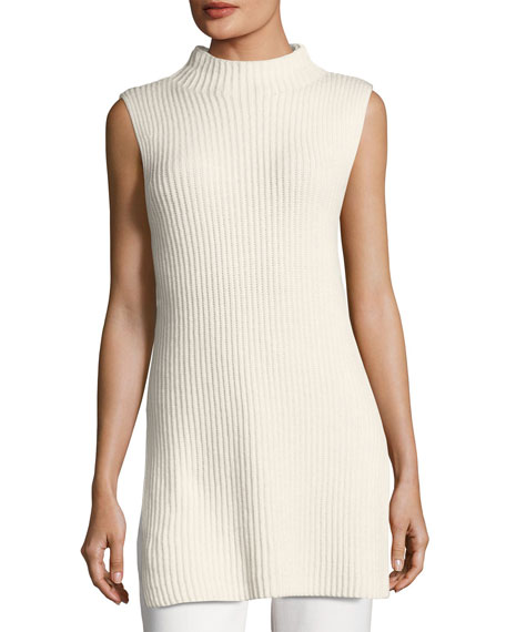 Escada Ribbed Wool-Cashmere Mock-Neck Tunic and Matching Items