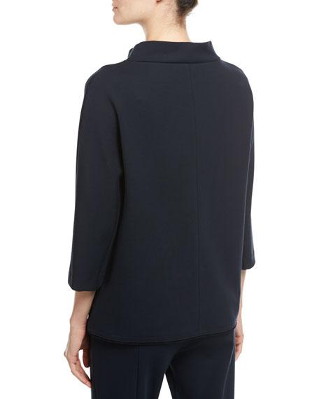 Crystal-Trim 3/4-Sleeve Pullover