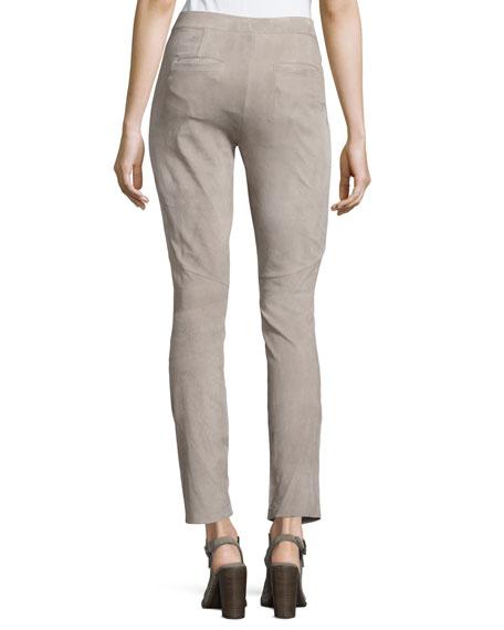 Lakera Suede Slim Ankle Pants