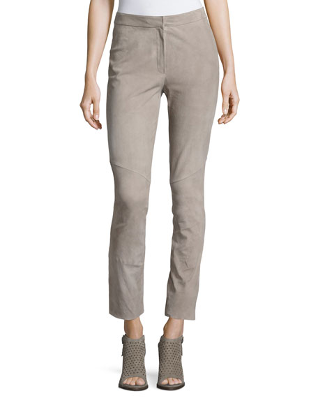Escada Lakera Suede Slim Ankle Pants