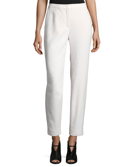 Escada Tamesne Wool Crepe Ankle Pants