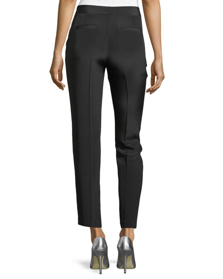 Tuilule Cropped Silk Pants