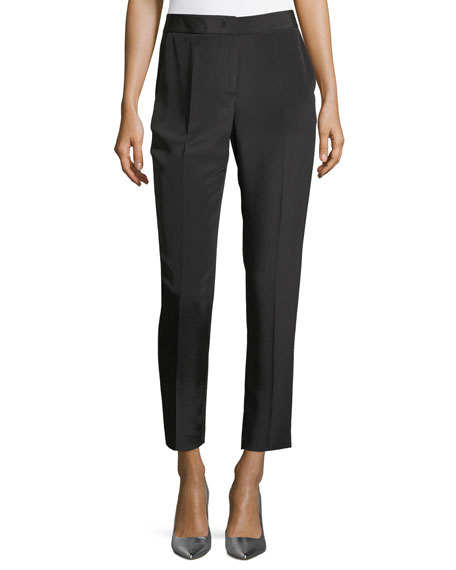 Escada Tuilule Cropped Silk Pants