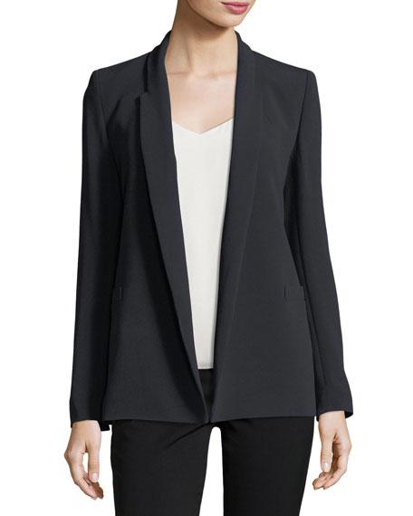 Open-Front Shawl-Collar Blazer