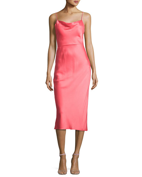 Jason Wu Satin Trompe l'Oeil Cocktail Slip Dress