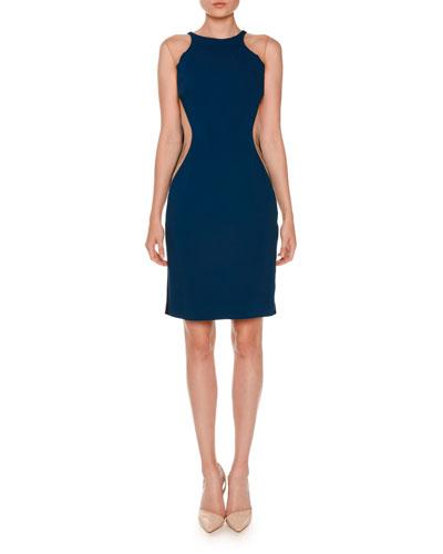 Sleeveless Miracle Illusion Dress, Blue