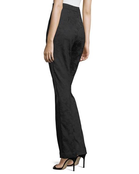 Jacquard High-Waist Tuxedo Pants