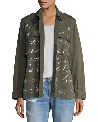 Mirrored Script Army Jacket