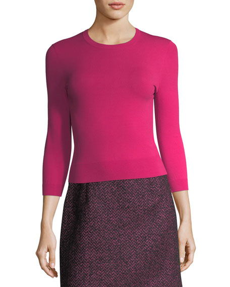 Michael Kors Collection Herringbone Tweed A-Line Miniskirt and