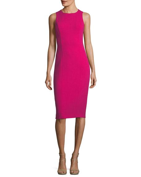Michael Kors Collection Sleeveless Boucle Crepe Sheath Dress