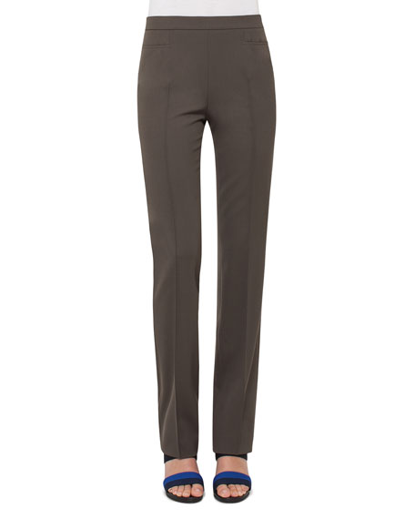 Francoise Techno-Stretch Pants, Olive