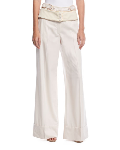 Roberto Cavalli Wide-Leg Cuffed Pants and Matching Items