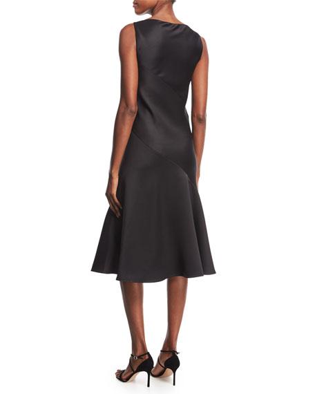 Satin Bias-Cut Slip Dress