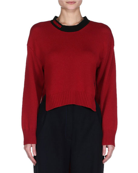 Fendi Side-Slit High-Low Tunic Sweater