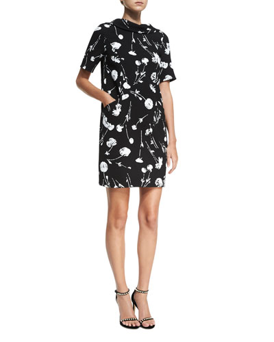 Tossed Poppies Shift Dress