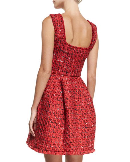 Tweed Fit & Flare Minidress