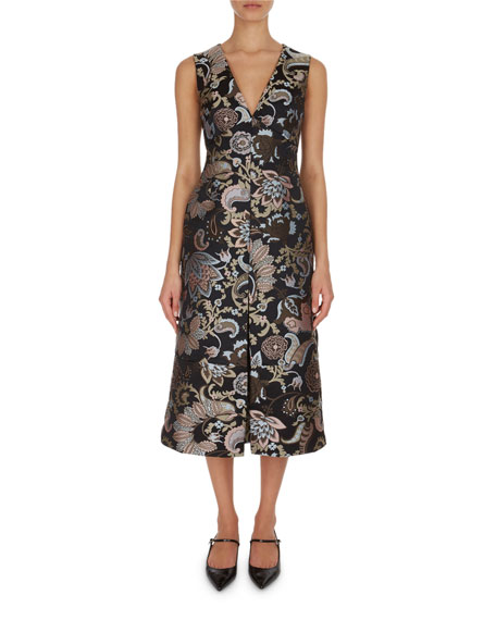 Erdem Kamila Paisley Floral A-Line Dress