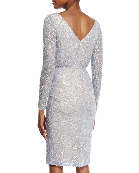Viera Beaded & Sequined Dress