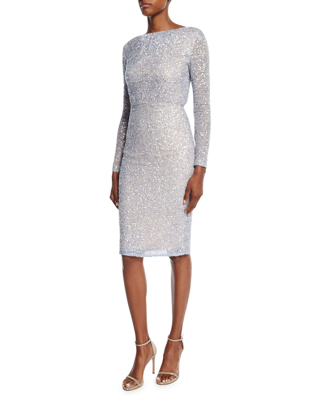 a0d0ba8016cf10 Rachel Gilbert Viera Beaded   Sequined Dress