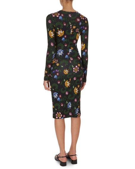 Eileen Floral Jersey Midi Dress