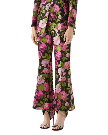 Gucci Romantic Flower Embroidered Pants