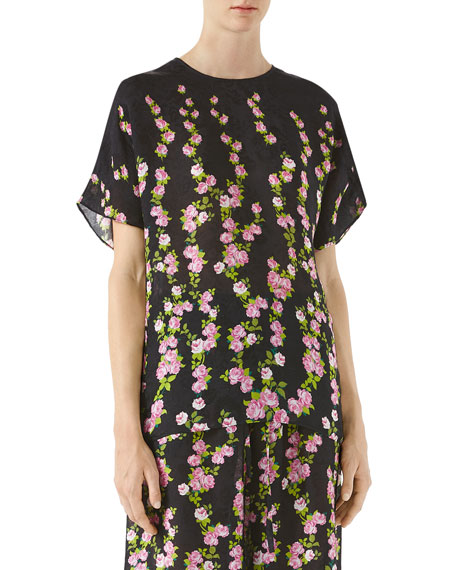 Gucci Climbing Roses Print Top and Matching Items