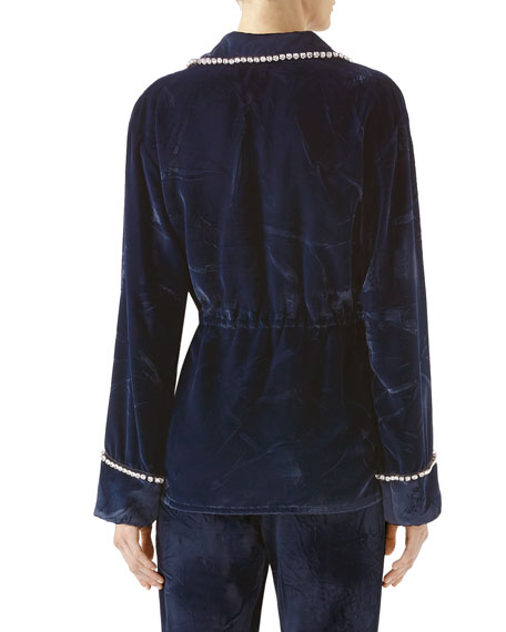 Viscose-Silk Velvet Shirt