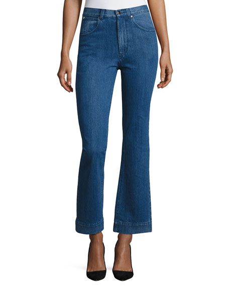 Co High-Waist Flare-leg Jeans, Indigo and Matching Items