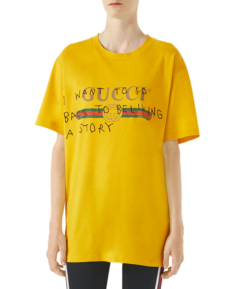 Gucci Gucci Coco Capitán Print Cotton T-Shirt  7711026ed2d0