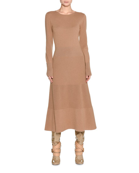 Agnona Long-Sleeve Cashmere Sweaterdress