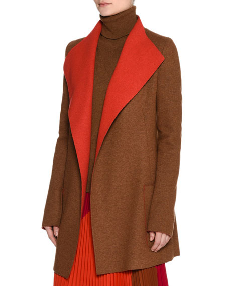 Platino Light Cashmere Jacket, Brown/Orange