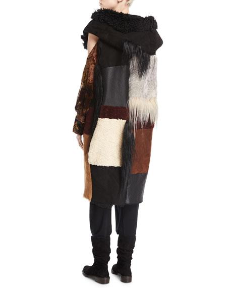 Patchwork Shearling Fur Vest
