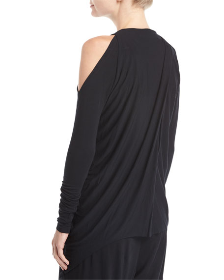 Crossover Cold-Shoulder Tunic