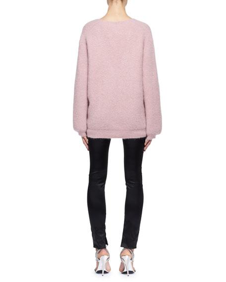 Oversized Knit V-Neck Sweater