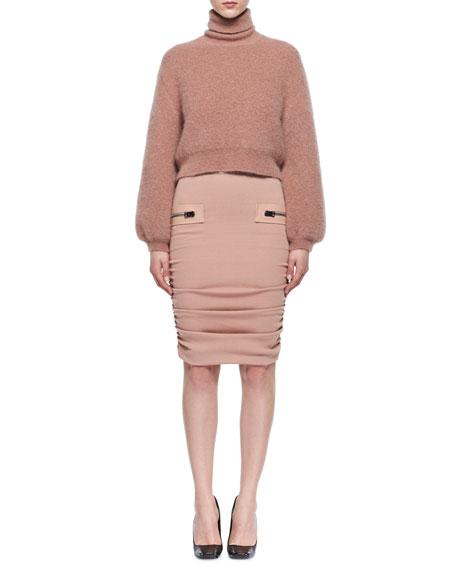 Knit Full-Sleeve Turtleneck Sweater