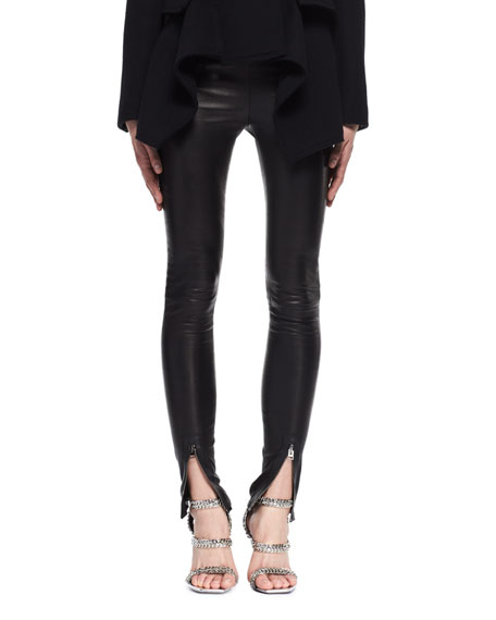 TOM FORD Leather Zip-Cuff Pants and Matching Items