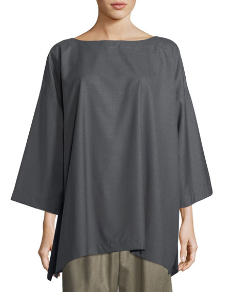 Slim A-Line 3/4-Sleeve Top