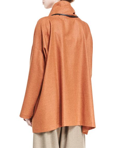 A-Line Cowl-Neck Monk's Top