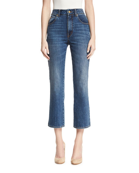 Co High-Waist Cropped Flare Jeans and Matching Items