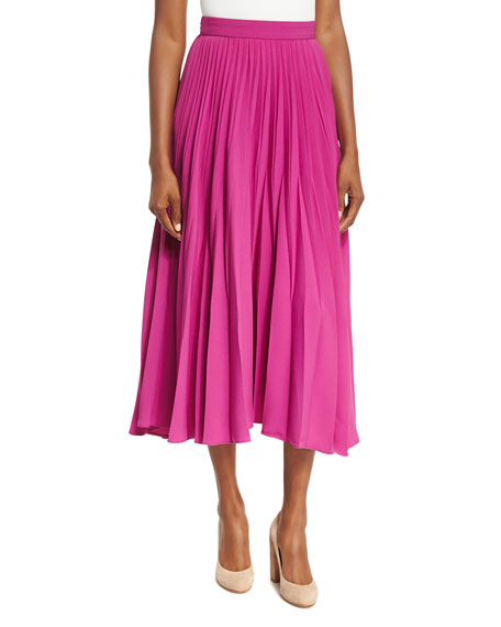 Co Reverse-Pleated Midi Skirt