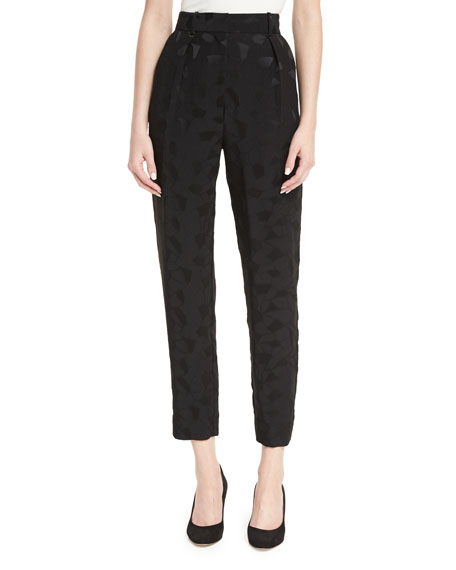 Co Mosaic Jacquard Pleat-Front Ankle Pants and Matching