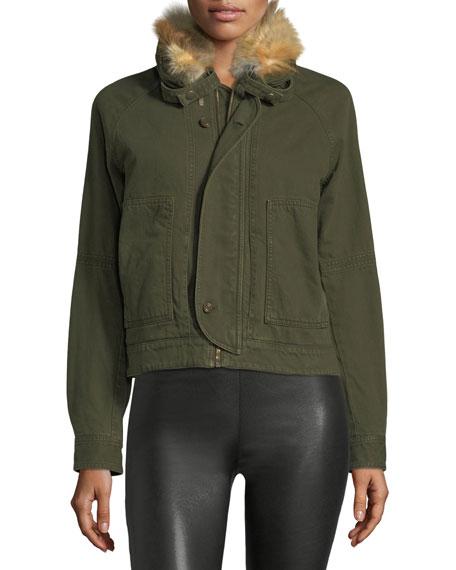Fur-Lined Canvas Jacket