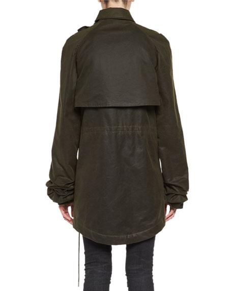 Plaid-Lined Parka Jacket
