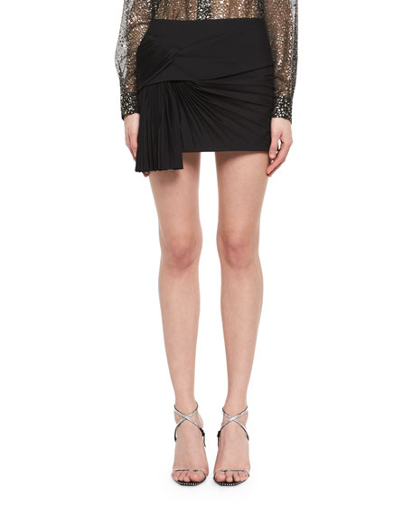 Saint Laurent Pleated Fan Miniskirt