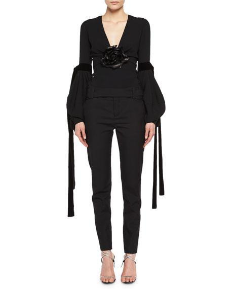 Slim Virgin Wool Pants